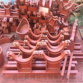 双孔重型管夹 焊制02S402管道支座管夹横担
