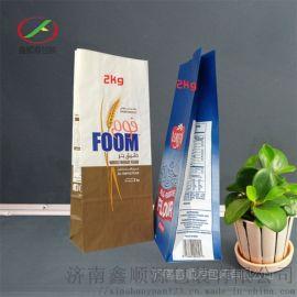 供应袋食品包装袋定制牛皮纸有机面粉小麦包装袋超市用