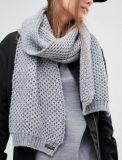歐美女式鏤空大氣混紡羊毛圍巾