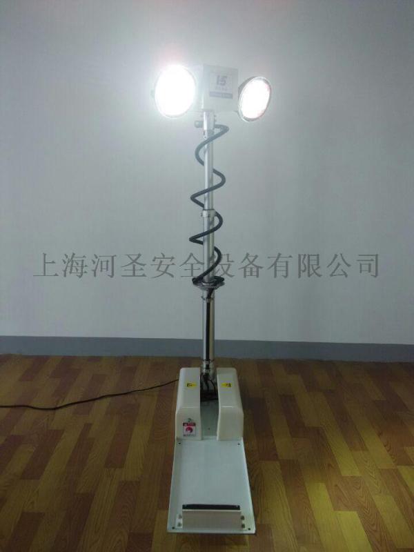 上海河聖360度車載移動升降旋轉照明雲臺