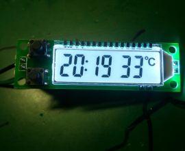 时间温度LCD液晶屏、LED背光源、段码显示屏 晶立威 2.5寸