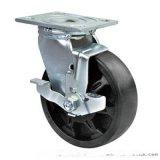 重型6寸耐高温轮 固定脚轮 带刹车脚轮