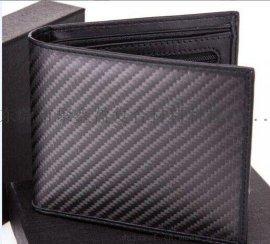 jxy时尚碳纤维钱包 超大容量手拿商务包