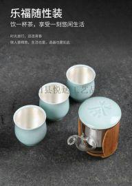 悦达纯银茶具套装 银饰品摆件致臻纯银家居茶具摆件