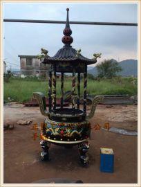 zy123铸铁圆形香炉|寺庙圆形六龙柱香炉供应厂家