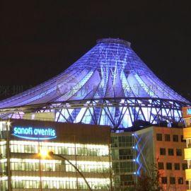 通道ETFE景观膜结构遮阳棚设计透明膜结构顶棚安装