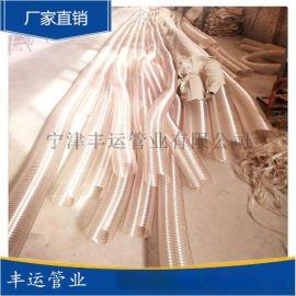 丰运管业供应吸粮机专用PU耐磨钢丝伸缩管