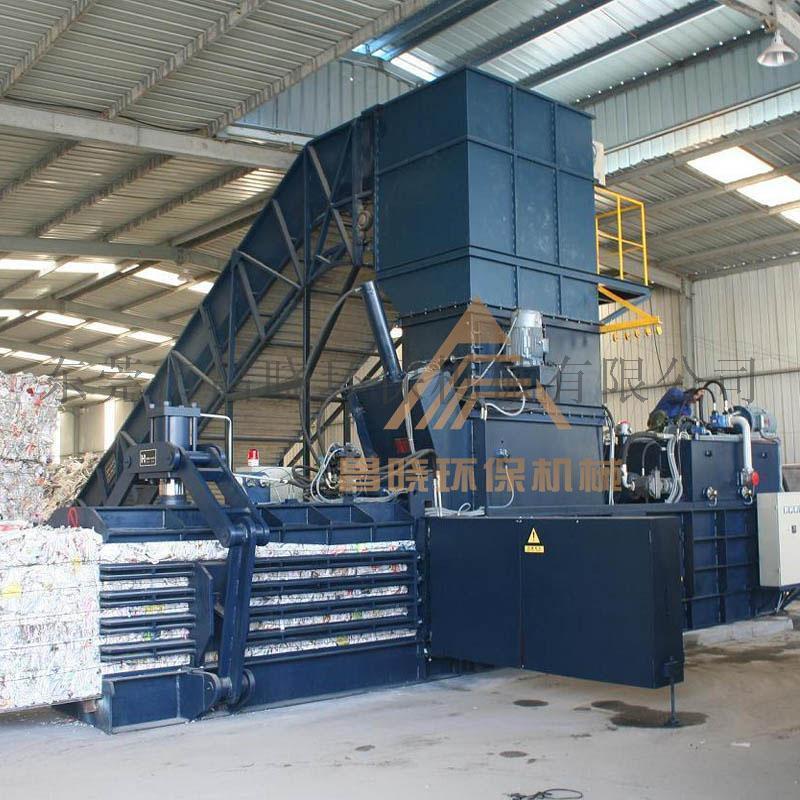 180T全自动打包机 废纸、塑料、工厂垃圾打包