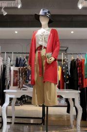卡嘉茜北京外贸尾货批发市场在哪 品牌折扣女装库存批发尾货**红色职业女装