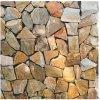 黃木紋黃色碎拼石材 黃木文冰裂紋文化石值得擁有