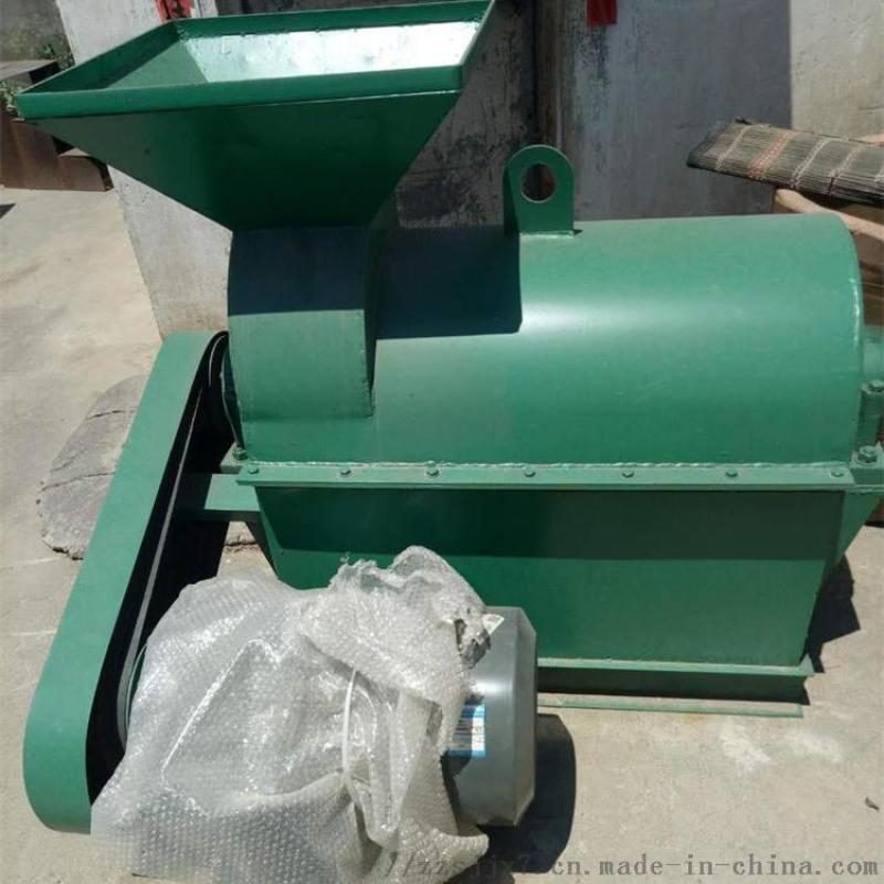 卧式猪粪有机肥粉碎 甘蔗扎发酵后粉碎机
