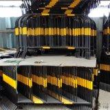 工厂直销烤漆反光施工保护围栏32管黑黄铁马临时护栏