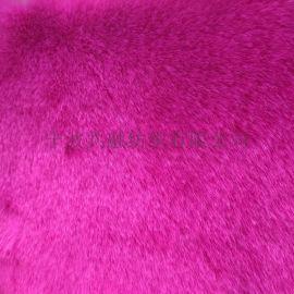 粉色短狐,化纤面料,针织,毛绒布面料,假毛