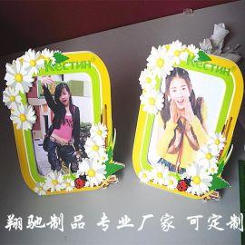 厂家直销PVC软胶滴胶卡通相框 圣诞促销礼品儿童相框 photo frame 可开模定制