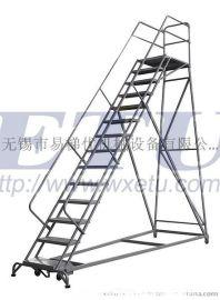 ETU易梯优 美式登高梯 重型钢梯 工业梯 安全爬梯 自锁刹车更好用