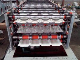 三层彩钢压瓦机设备 彩钢扣瓦压型一体机