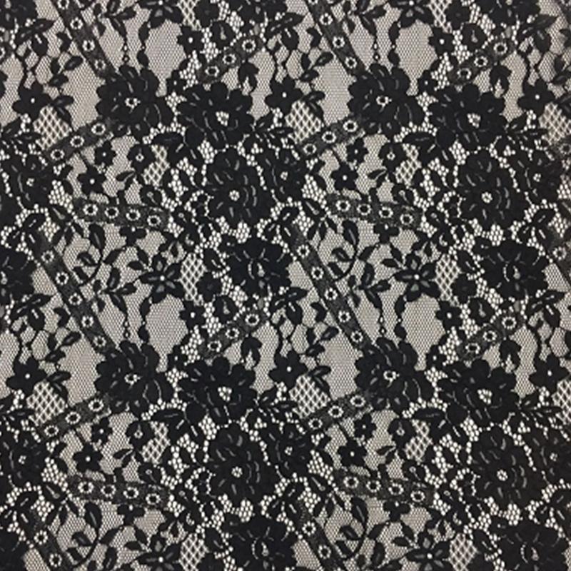 锦棉镂空股线面料 简约半身裙蕾丝 品质婚纱礼服面料