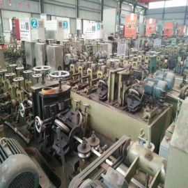 工厂闲置二手制管机组回收|高频焊接制管机|不锈钢制管二手设备