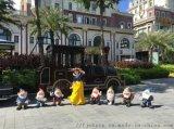 白雪公主和七個小矮人工藝品擺件 花園景觀雕塑