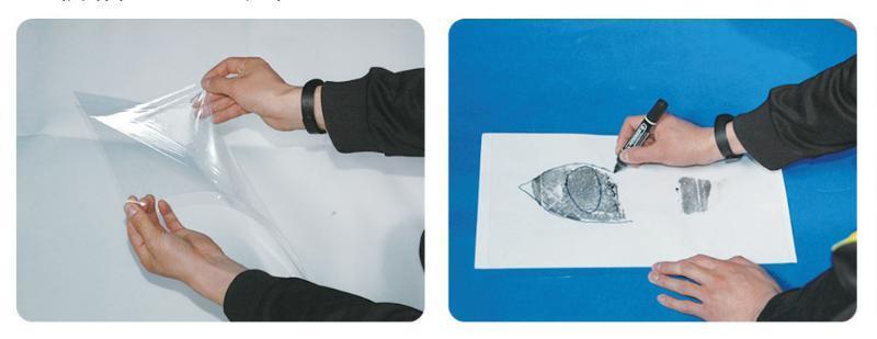 足迹检验用透明塑料片