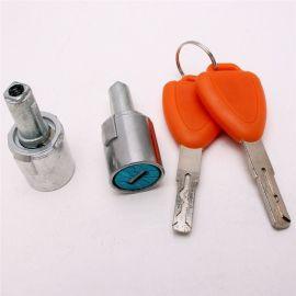 新能源电动三轮 彩色钥匙 锌合金锁芯 镀铬 车门锁具配件