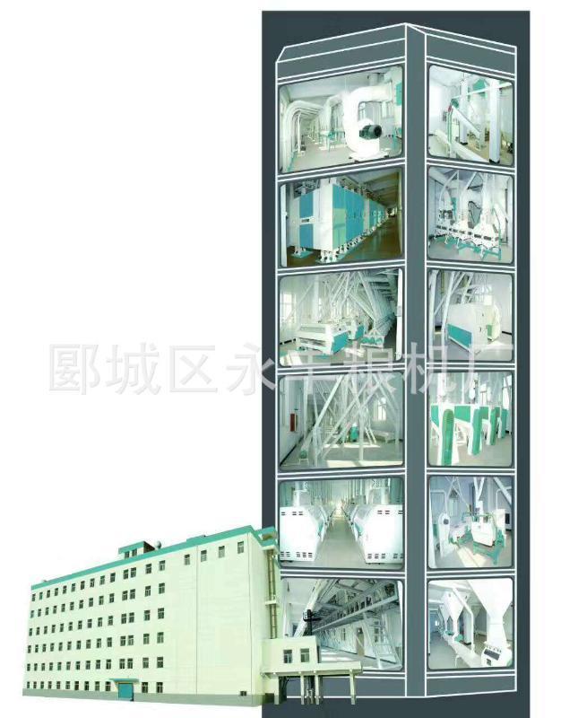 楼房结构成套设备 日处理500吨小麦面粉厂