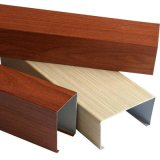 仿木紋U型鋁方通1.2厚度廠家直銷吊頂鋁方通外牆