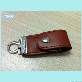 原装东芝芯片迷你USB闪存盘,钥匙扣皮套U盘