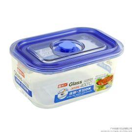 振兴BXM6239真空高硼硅耐热玻璃保鲜盒/适用于微波炉烤箱/450ml