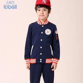 乐背尔厂家直销儿童棒球服2015春款童装男童套装春秋运动二件套男童秋装