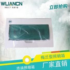 【厂家直销】高品质全塑料梅兰型配电箱 低压照明配电箱 低价批发