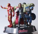 版漫威复仇者联盟人物模型绿巨人钢铁侠美国队长雷神公仔摆件