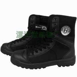 帆布靴特勤鞋保安工作鞋户外运动鞋登山鞋网眼透气鞋帆