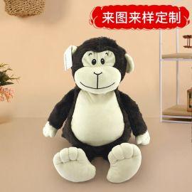 东莞工厂毛绒玩具定制猩猩公仔工厂来图定做毛绒公仔