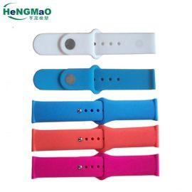 供应硅胶表带,20MM手表带 适用于小天才华为苹果