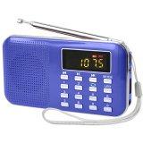 便攜隨身聽老人評書機帶LED燈數碼播放器 老年收音機 插卡