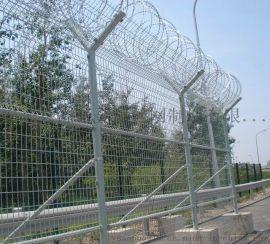 机场钢筋网围栏@钢筋直径6毫米机场网围栏