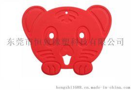 环保儿童卡通餐垫 硅胶老虎款餐垫 硅胶隔热垫