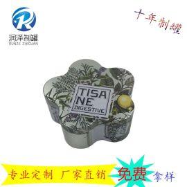 异形糖果罐 马口铁罐 梅花形状小饰品收纳盒