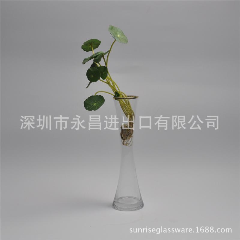 酒店彩色创意异形歪树花瓶单只玻璃花瓶色料树形单枝花瓶