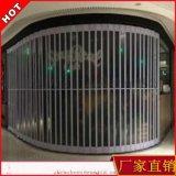 廠家批發供應水晶折疊門   透明防盜門弧形側向推拉門