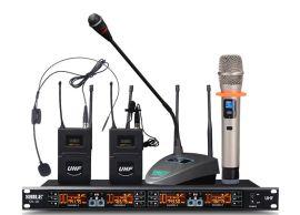 一拖四无线麦克风红外线自动对频会议无线话筒