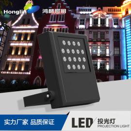 鸿麟LED投光灯 方正系列36*2W结构防水投光灯
