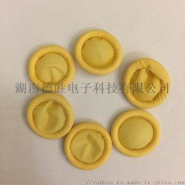 A1米黄卷边无尘一次性防静电乳胶手指套500g每袋