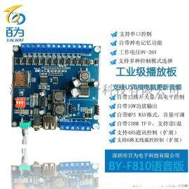 12V/24V工業級語音模組  插卡遙控播報器