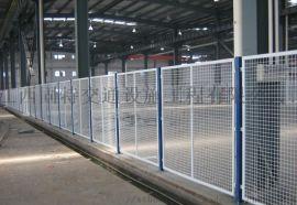 九江永修车间黄色围栏机械隔离防护网 工厂车间防护栏