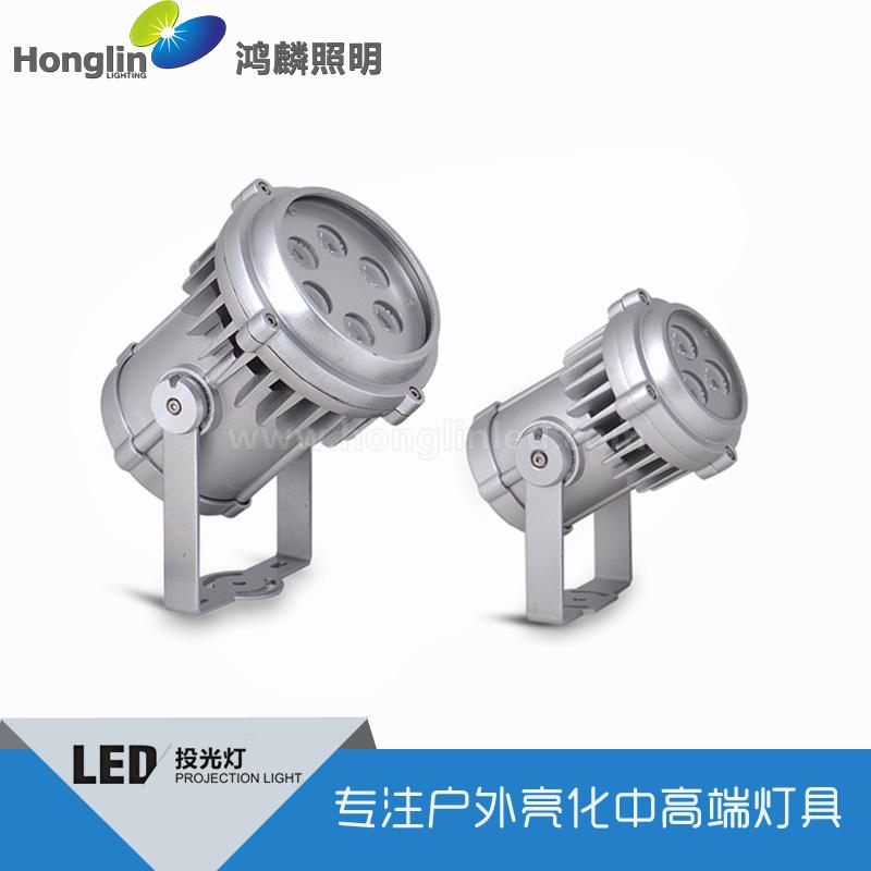 6X3W投光灯-led户外射灯-圆形投光灯18w