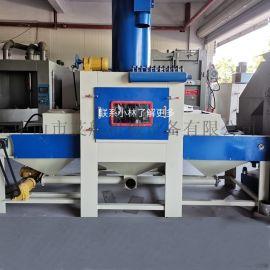 东莞喷砂机,平面大型输送自动喷砂机