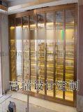 不锈钢酒柜定制 不锈钢钛金常温酒柜定做