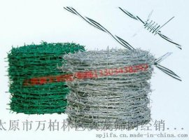 供应太原镀锌/包塑刺绳规格-刺绳防护网价格 质量保证